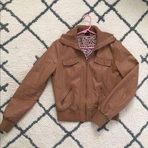 Rue 21 Women's Brown Leather Jacket
